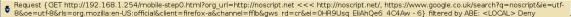 NoScript blocking warning